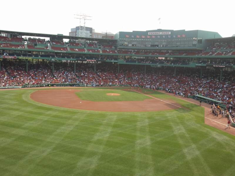 Seating view for Fenway Park Section Green Monster 6 Row 2 Seat 6