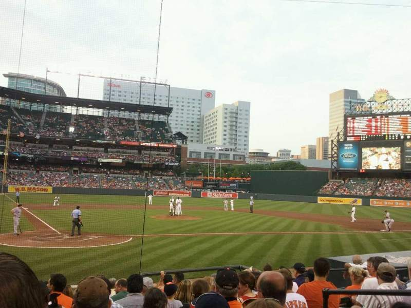 Seating view for Oriole Park at Camden Yards Section 30 Row 12 Seat 3