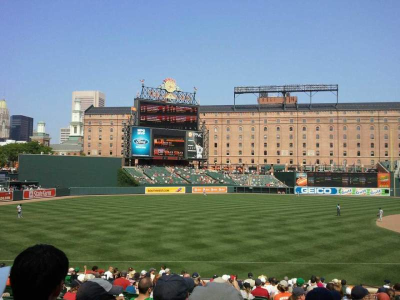 Oriole Park at Camden Yards, section 62, row 22, seat 7 ...