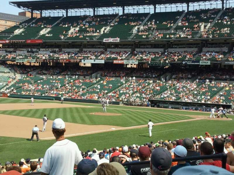 Oriole Park at Camden Yards, section 62, home of Baltimore ...