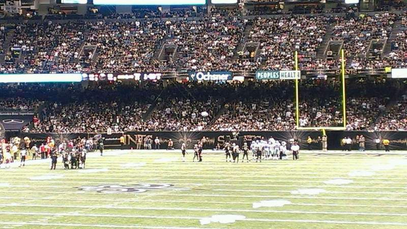 Seating view for Mercedes-Benz Superdome Section 124 Row 20 Seat 24