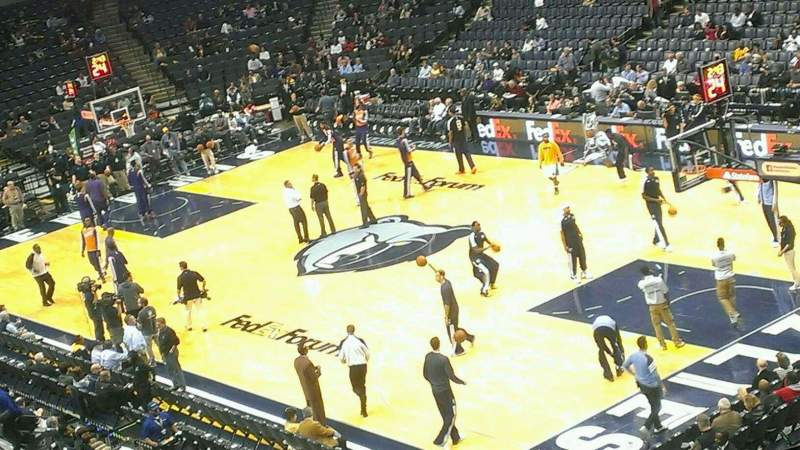 Seating view for FedEx Forum Section 116A Row EE Seat 1