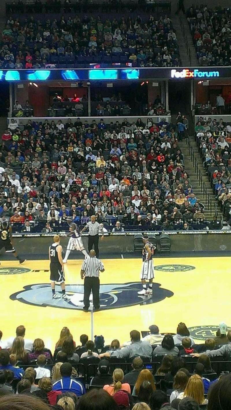 FedEx Forum, section: 114, row: T, seat: 11