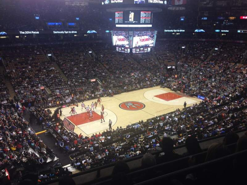Seating view for Air Canada centre Section 323 Row 4 Seat 15