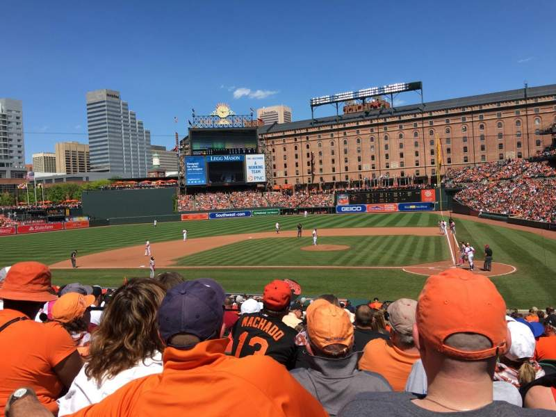 Seating view for Oriole Park at Camden Yards Section 46 Row 24 Seat 3