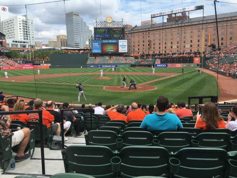 Seating view for Oriole Park at Camden Yards Section 40 Row 16 Seat 7
