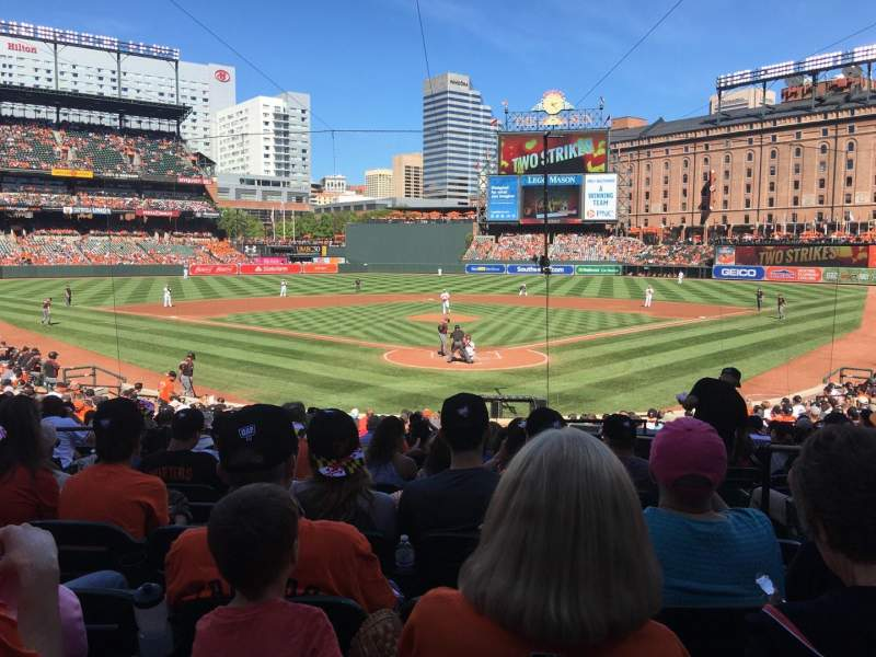 Seating view for Oriole Park at Camden Yards Section 38 Row 22 Seat 3