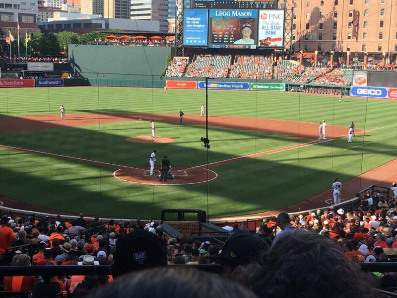 Seating view for Oriole Park at Camden Yards Section 37 Row 4 Seat 4