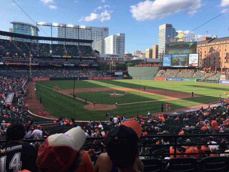 Seating view for Oriole Park at Camden Yards Section 33 Row 5 Seat 11