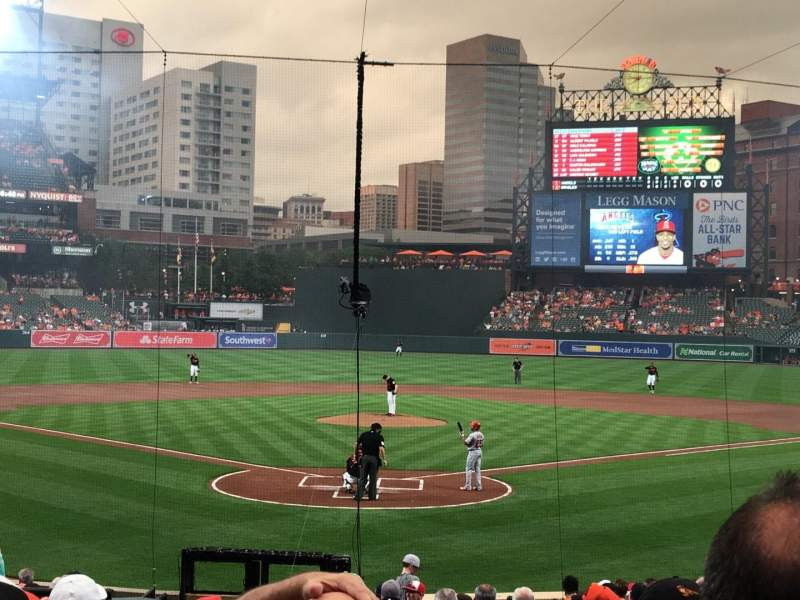 Seating view for Oriole Park at Camden Yards Section 36 Row 19 Seat 6