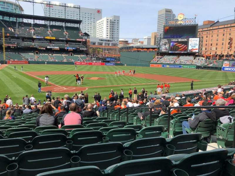 Seating view for Oriole Park at Camden Yards Section 32 Row 24 Seat 4