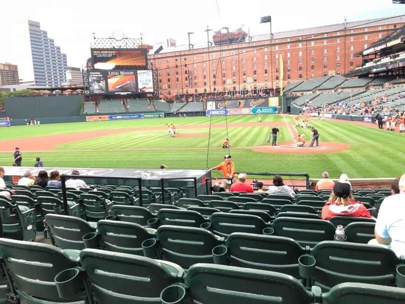 Seating view for Oriole Park at Camden Yards Section 46 Row 15 Seat 4