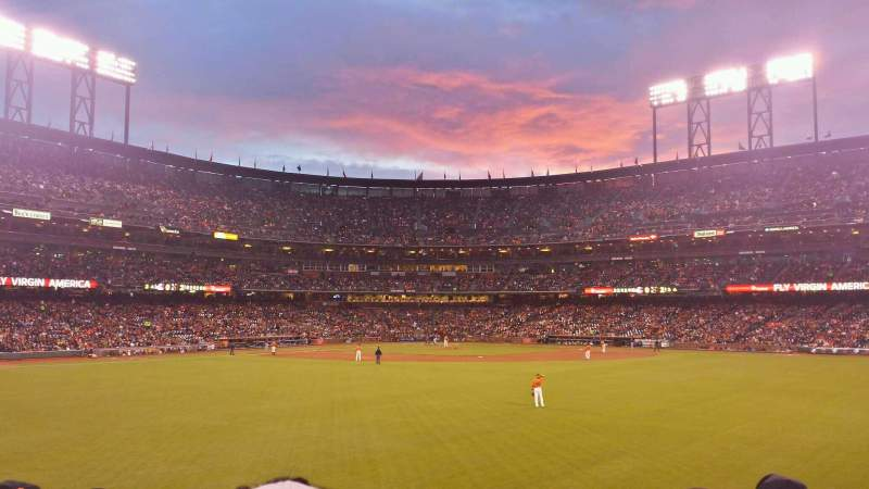 Seating view for AT&T Park Section 143 Row 11 Seat 16
