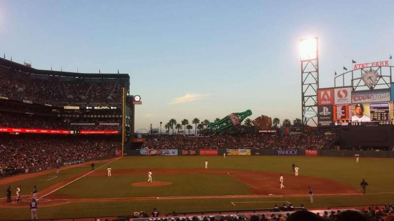 Seating view for AT&T Park Section 109 Row 33 Seat 10