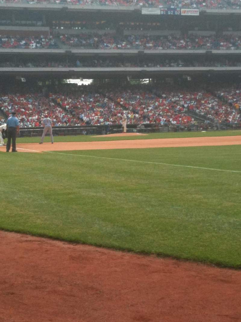 Seating view for Citizens Bank Park Section 110 Row 1 Seat 5