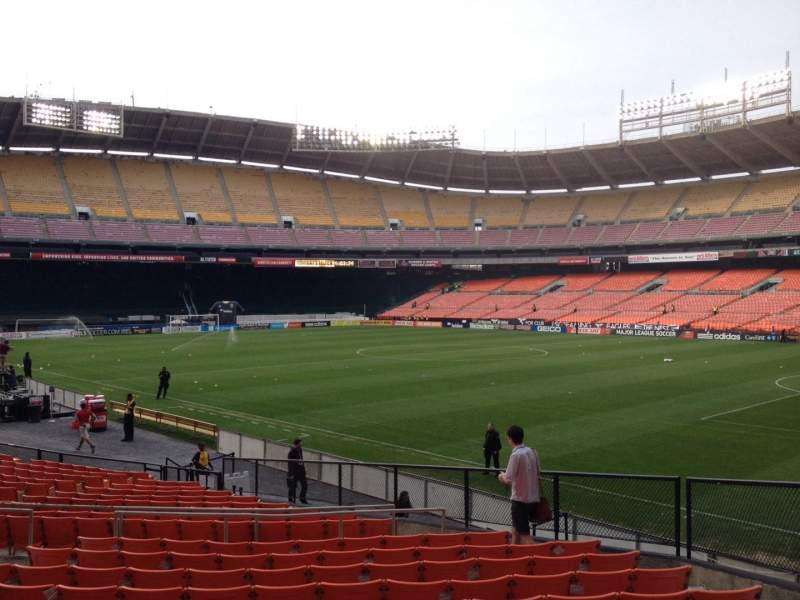 Seating view for RFK Stadium Section 201 Row 11 Seat 7
