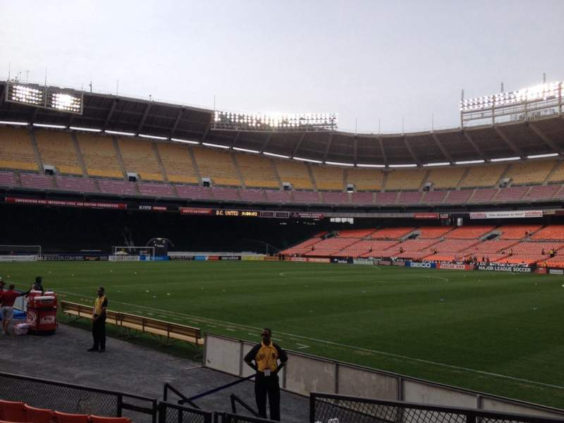 Seating view for RFK Stadium Section 101 Row 8 Seat 11