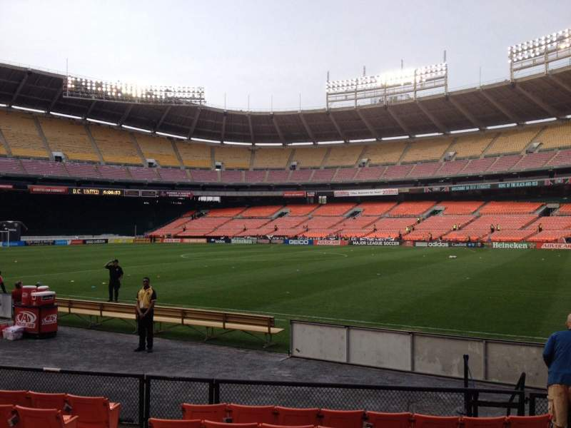 Seating view for RFK Stadium Section 102 Row 8 Seat 7