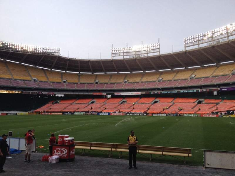 Seating view for RFK Stadium Section 102 Row 7 Seat 7