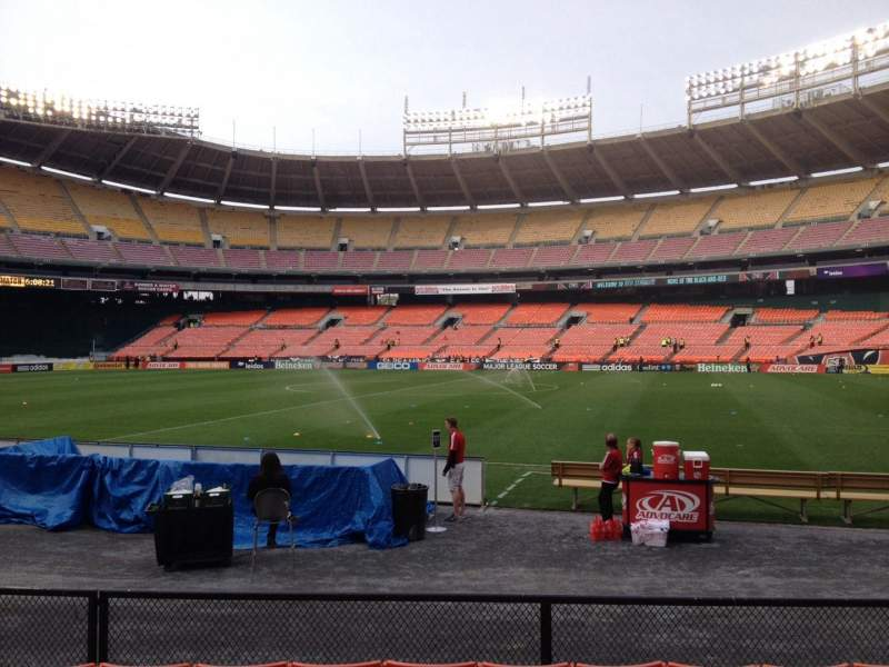 Seating view for RFK Stadium Section 104 Row 7 Seat 8