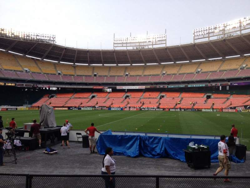 Seating view for RFK Stadium Section 105 Row 7 Seat 8