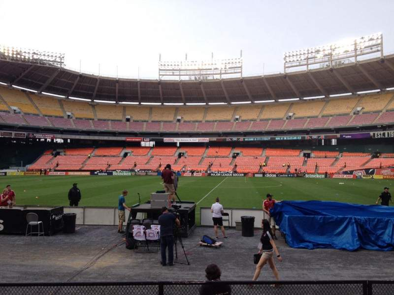 Seating view for RFK Stadium Section 106 Row 7 Seat 6