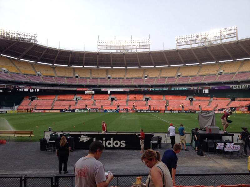 Seating view for RFK Stadium Section 107 Row 8 Seat 10