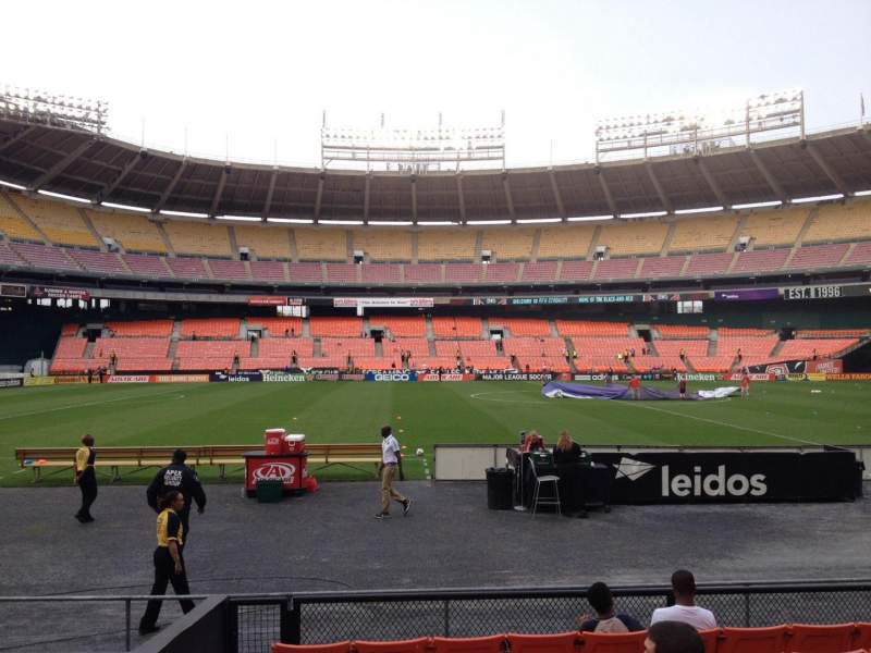 Seating view for RFK Stadium Section 108 Row 8 Seat 12
