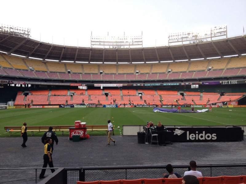 RFK Stadium, section: 108, row: 8, seat: 12