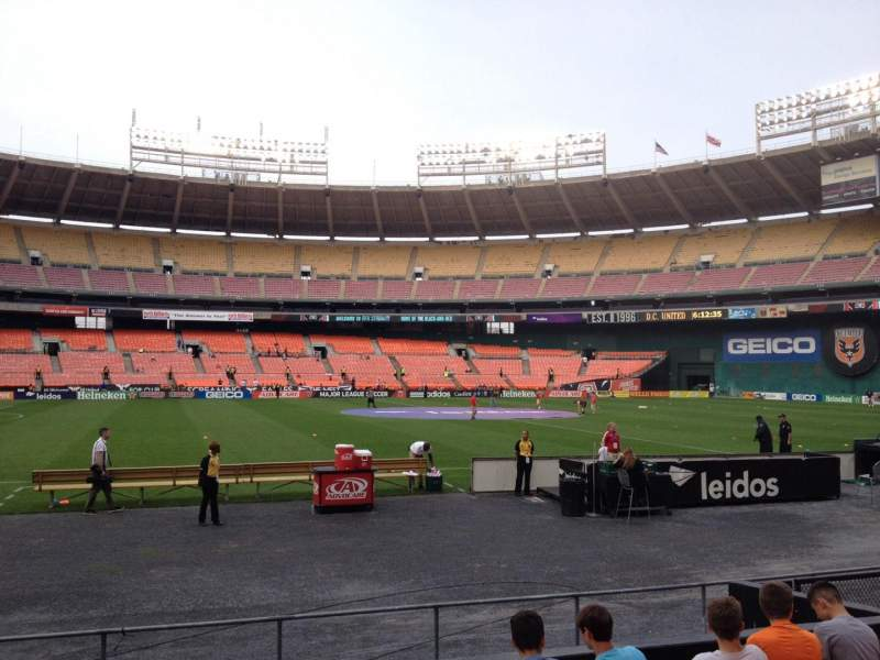Seating view for RFK Stadium Section 109 Row 8 Seat 10