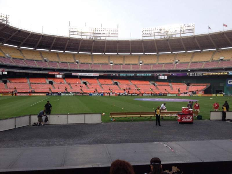 Seating view for RFK Stadium Section 110 Row 8 Seat 9
