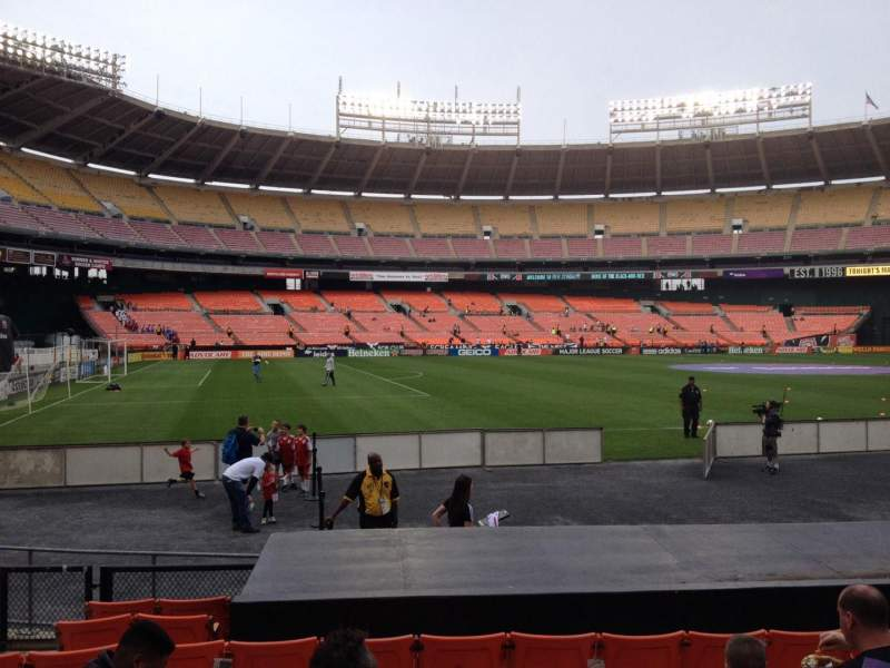Seating view for RFK Stadium Section 112 Row 9 Seat 8