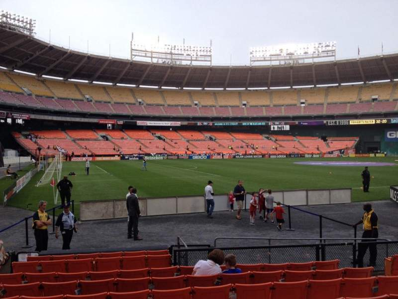 Seating view for RFK Stadium Section 113 Row 9 Seat 8