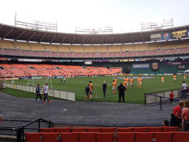 Seating view for RFK Stadium Section 115 Row 6 Seat 7