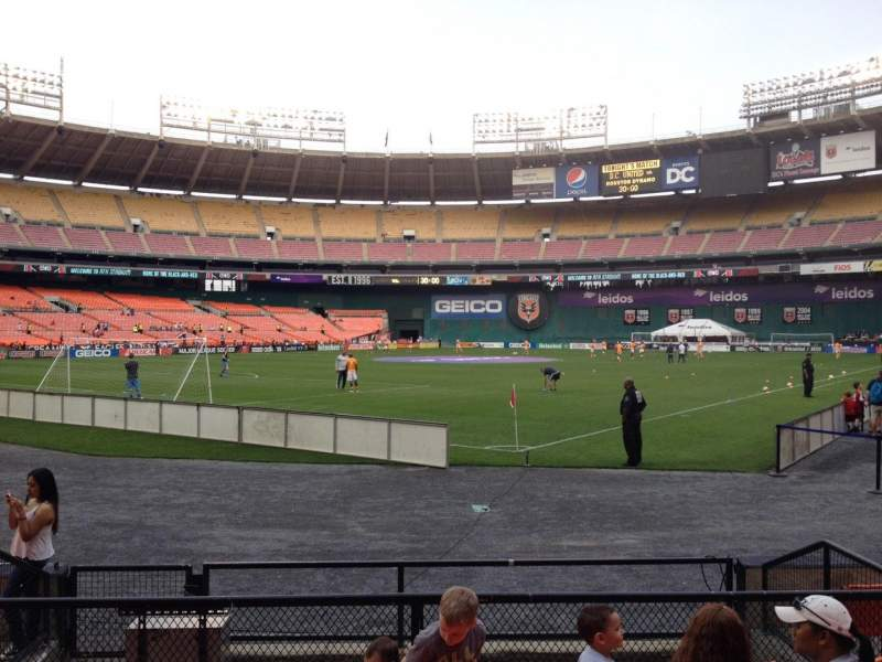 Seating view for RFK Stadium Section 116 Row 6 Seat 6