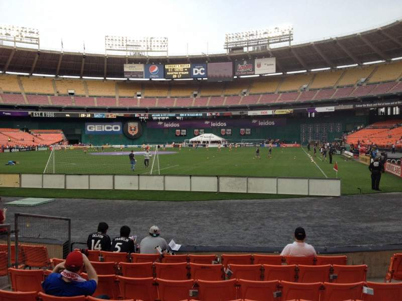 Seating view for RFK Stadium Section 118 Row 7 Seat 6