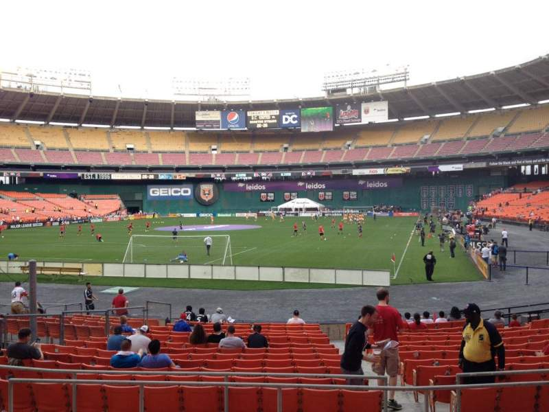 Seating view for RFK Stadium Section 216 Row 7 Seat 8