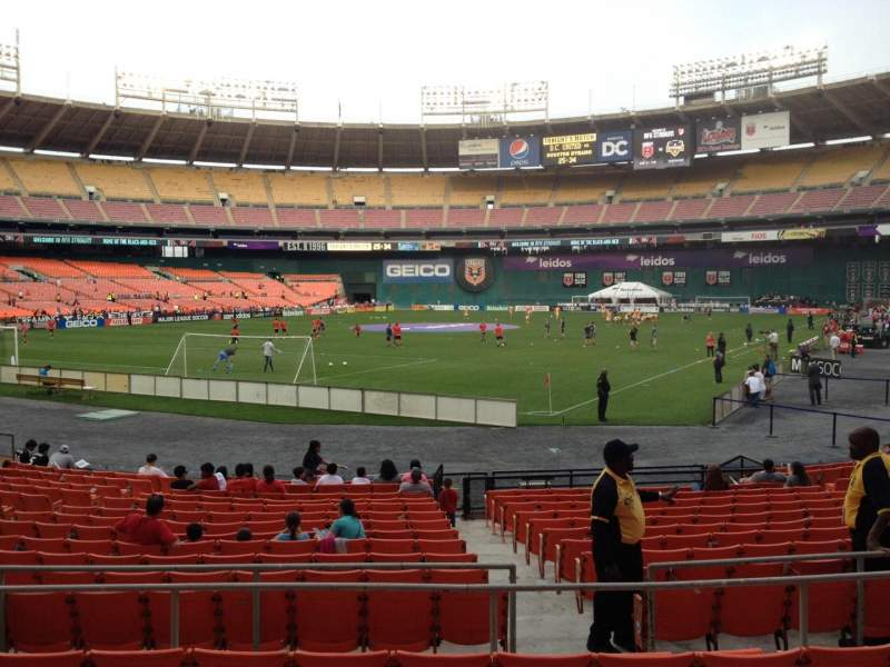 Seating view for RFK Stadium Section 215 Row 6 Seat 10