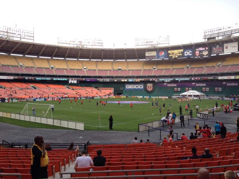 Seating view for RFK Stadium Section 215 Row 6 Seat 11