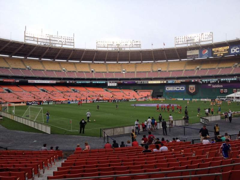 Seating view for RFK Stadium Section 214 Row 6 Seat 8
