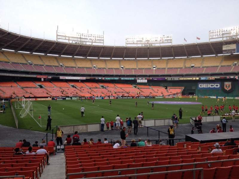 Seating view for RFK Stadium Section 213 Row 6 Seat 7