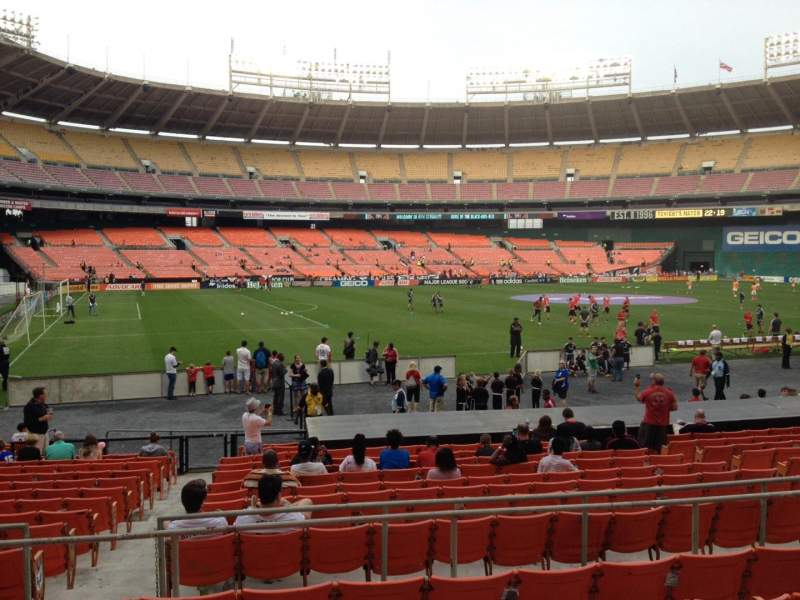 Seating view for RFK Stadium Section 212 Row 6 Seat 10