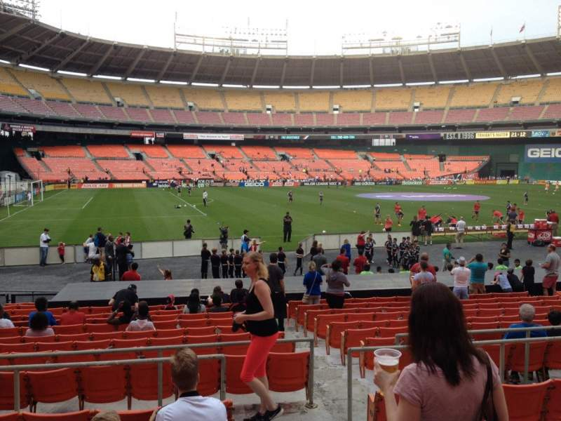 Seating view for RFK Stadium Section 211 Row 6 Seat 1