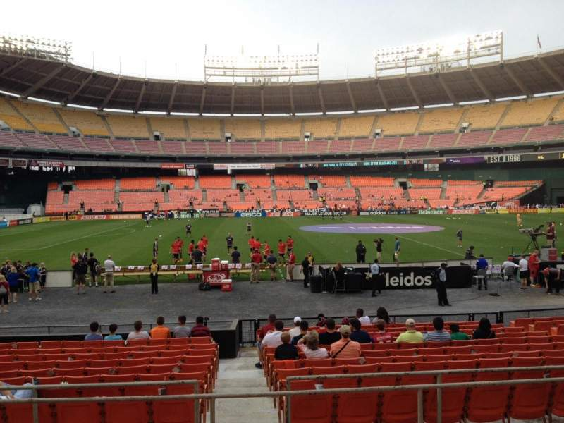 Seating view for RFK Stadium Section 208 Row 6 Seat 8