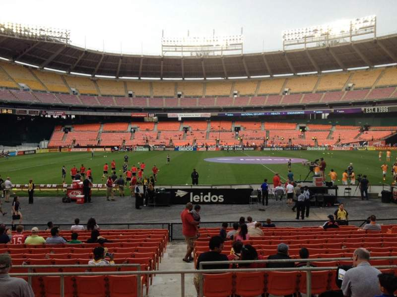 Seating view for RFK Stadium Section 207 Row 6 Seat 7