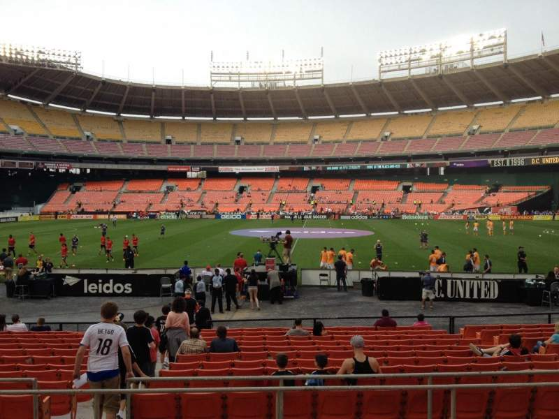 Seating view for RFK Stadium Section 206 Row 6 Seat 8