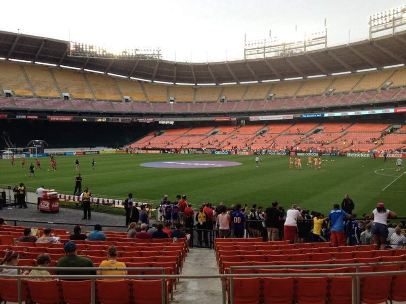 Seating view for RFK Stadium Section 202 Row 6 Seat 8