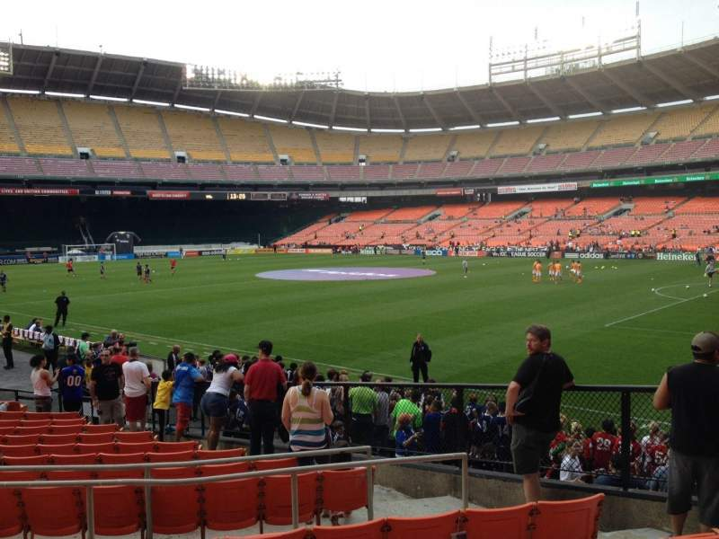 Seating view for RFK Stadium Section 201 Row 6 Seat 7