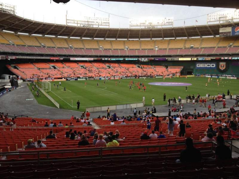 Seating view for RFK Stadium Section 312 Row 9 Seat 10