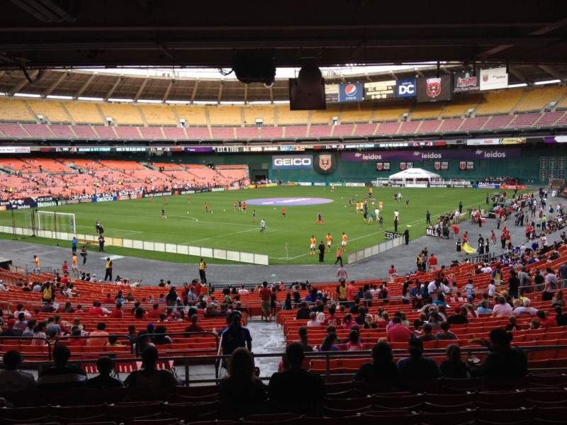 Seating view for RFK Stadium Section 315 Row 9 Seat 10